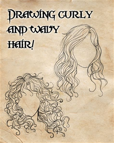 drawing curly hair how i draw curly and wavy hair by cristianaleone on