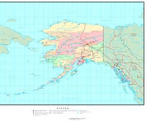 Map Alaska by Alaska Political Map