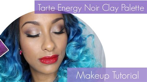makeup tutorial tarte tarte energy noir clay palette tutorial youtube