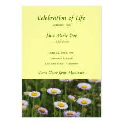 celebration of life invitation template quotes