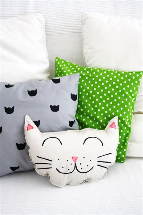 Cat Pillow by Luloveshandmade Diy Cat Pillow Set Sewing And