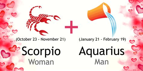 scorpio woman and aquarius man love compatibility ask oracle