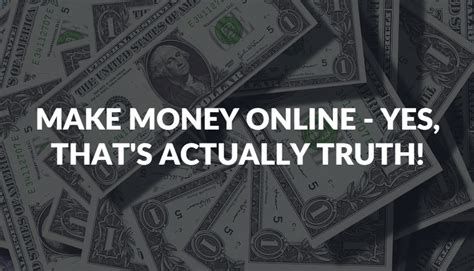 Make Actual Money Online - make money online