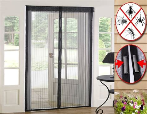 Patio Door Mesh Screen Magic Curtain Door Mesh Magnetic Free Fly Mosquito Bug Insect Screen Ebay