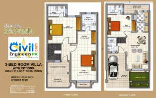 How To Draw A Basement Floor Plan 1 4 Per Foot 3 marla house plans civil engineers pk
