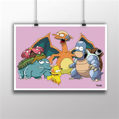 The Simpsons Graphic 16 the simpsons x heavyweight print thumbs design