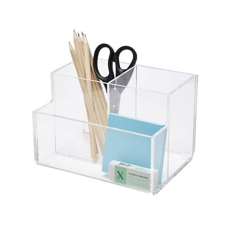 Officeworks Desk Accessories X Pen Stand Desk Tidy Acrylic Clear Officeworks