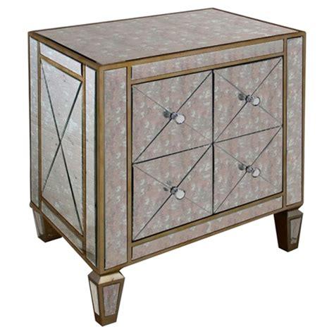 mirrored nightstand 3 drawers modrest harmon nightstand 3 drawers 2 doors mirrored