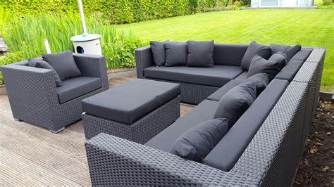 loungeset zwart arbrini design tuinmeubelen