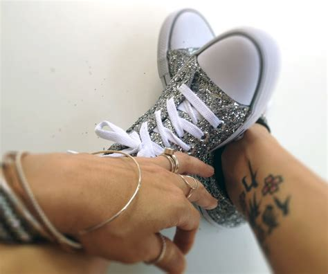 diy sparkly shoes favorite thing glitter a diy make your own glitter shoes
