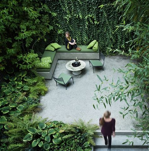 urban backyard small urban garden with lots of green interior design ideas
