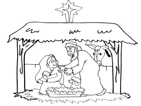 free jesus birth coloring pages