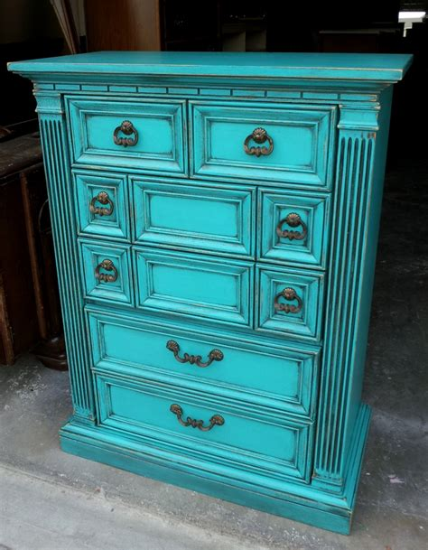 Distressed Turquoise Furniture by Turquoise Archives Facelift Furniture