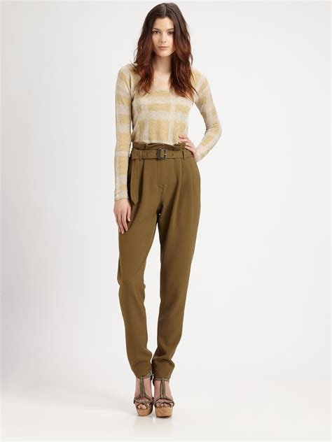 lyst burberry paperbag waist in