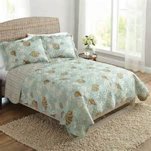 seafoam green coverlet com 3pc seafoam green blue coastal beach seashell