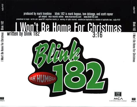 i won t be home for blink 182