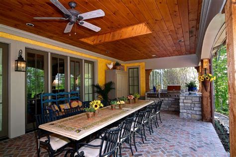 grilling porch covered porch with built in grill