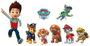 Quotation Wall Stickers paw patrol full set 1 captain and 6 dog 7pcs