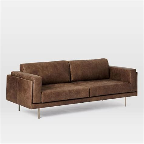 84 leather sofa dempsey leather sofa 84 quot west elm