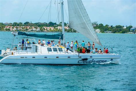 catamaran sailing in the bahamas nassau catamaran sail snorkel island routes