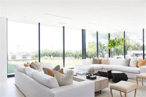 photos of living rooms with two sofas modern living room with two white sofas hgtv