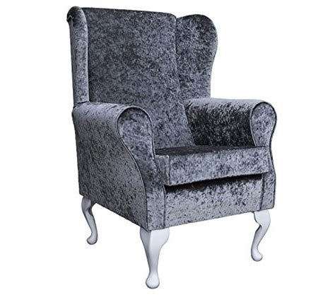 Small Wingback Recliner Small Westoe Wingback Armchair In A Pewter Sesno Chenille