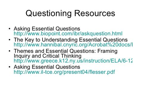 essential questions for themes in literature essential questions for students