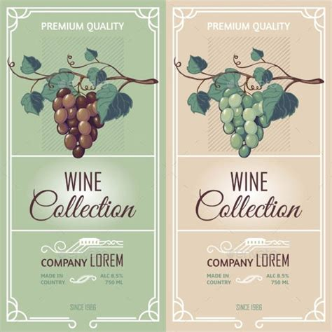 32 wine label designs free psd vector ai eps format