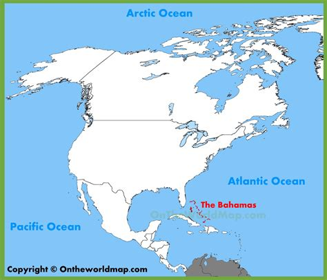 map of usa and bahamas the bahamas location on the america map