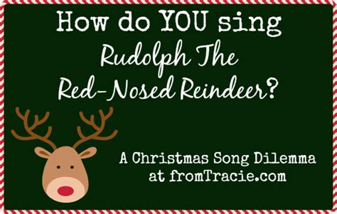 rudolph the nosed reindeer lyrics like a light bulb from tracie we a song dilemma