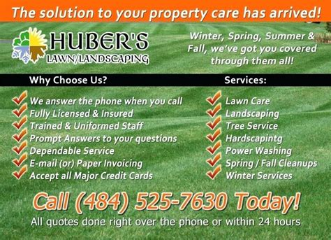 Lawn Care Business Card Templates Free Downloads