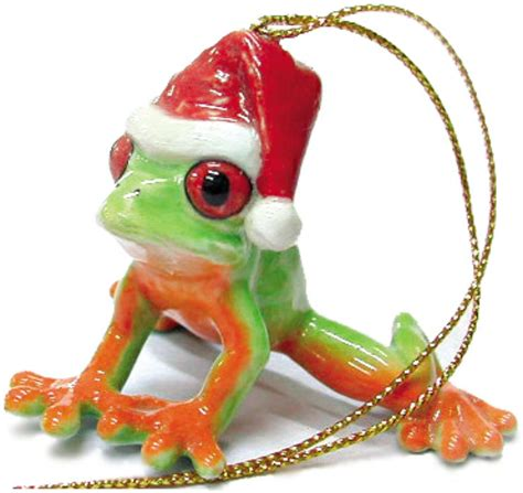 northern rose porcelain christmas tree decoration frog