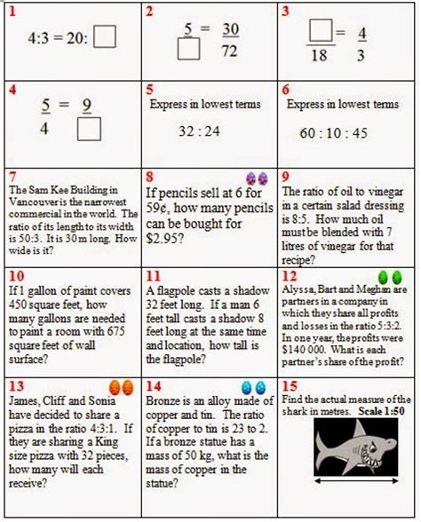 Proportional Reasoning Worksheets by Engaging Math Easter Proportional Reasoning Review Activity