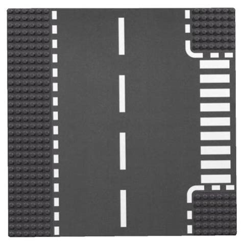 printable road pieces lego city road t junction plate curve 2 sheets 7281
