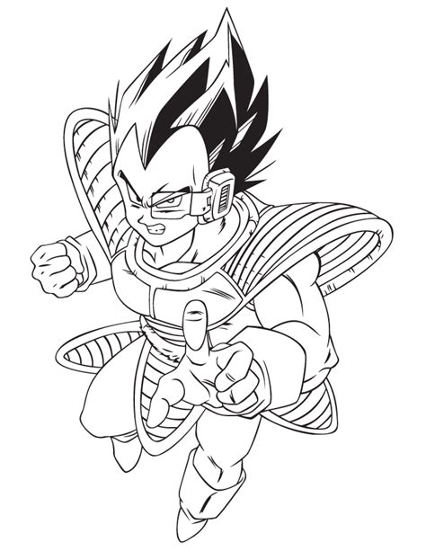 z coloring book vegeta coloring pages coloring page