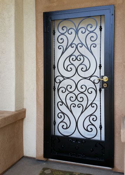 Decorative Security Screen Doors by Iron Entry Doors Fences Gates Stair Railings San