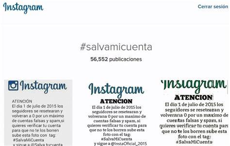 cadenas oara instagram circulan cadenas falsas en instagram para salvar tu cuenta