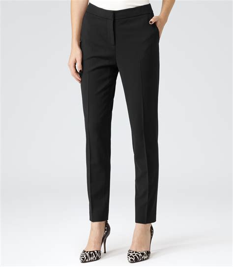 Tailored Trouser willow black slim tailored trousers reiss