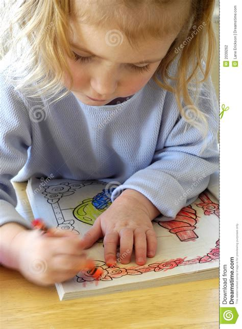 child color coloring in book stock photography image 2039262