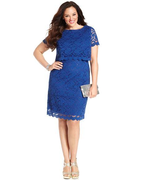 Diskon Fashion Wanita Reisha Dress Blue times plus size dress sleeve lace sheath plus size dresses plus sizes macy s