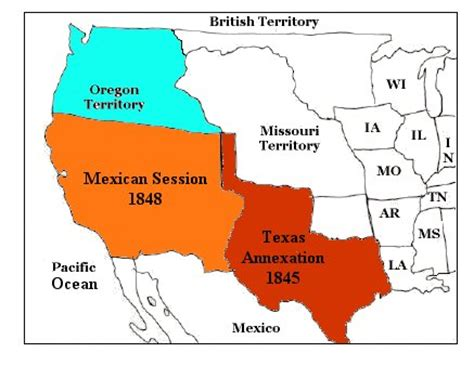 map of texas annexation america in the early 19th century topic texas annexation