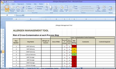 food safety risk assessment template sqf code certification