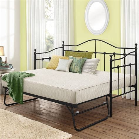 futon torino torino black metal guest bed with trundle