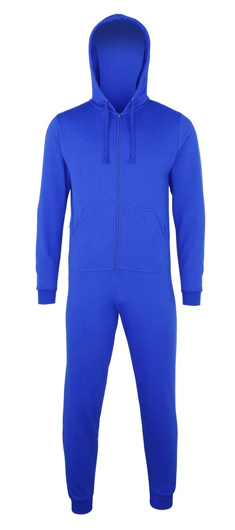 Comfy Co by Comfy Co Unisex Zip Up All In One Hooded Baggy Jersey
