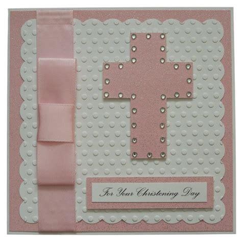 Handmade Baptism Cards - handmade pink christening card card