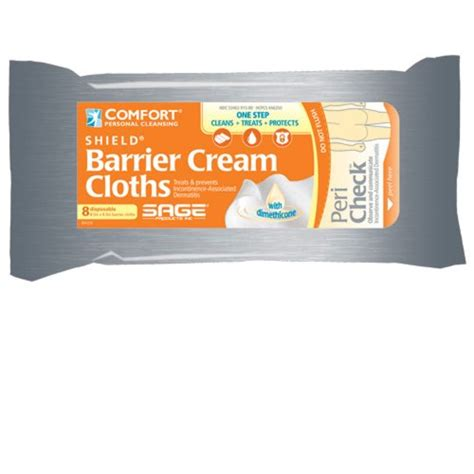 comfort shield barrier cream cloths comfort 174 shield incontinence barrier cream cloths each