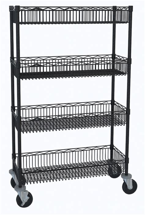 metro shelving products metro mobile basket shelf cart
