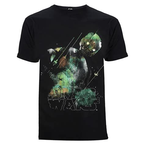 cgv star wars merchandise star wars rogue one men s rainbow effect k 2so t shirt