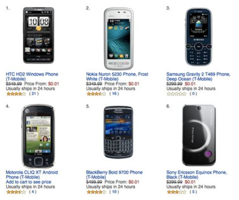 Mobile Giveaway Amazon - amazon offering t mobile promotional phones for a penny