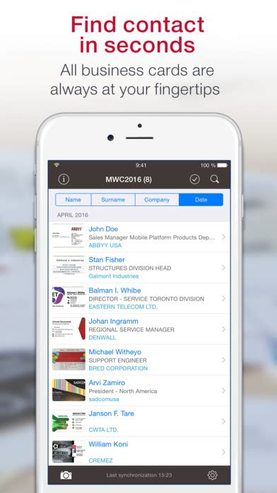 Business Card Scanner App Export To Excel